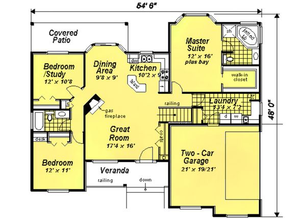Ranch Floor Plan - Main Floor Plan Plan #18-1057