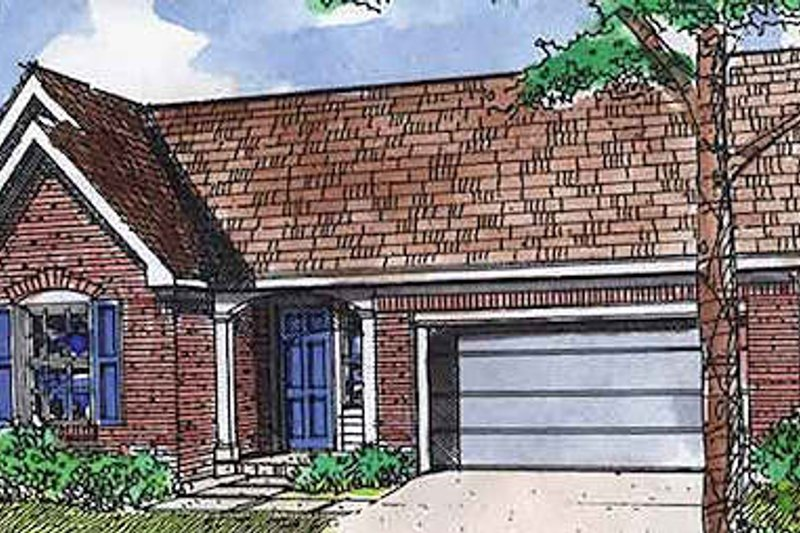Dream House Plan - Traditional Exterior - Front Elevation Plan #320-410