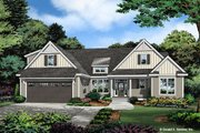 Ranch Style House Plan - 3 Beds 2 Baths 1697 Sq/Ft Plan #929-1109 Exterior - Front Elevation
