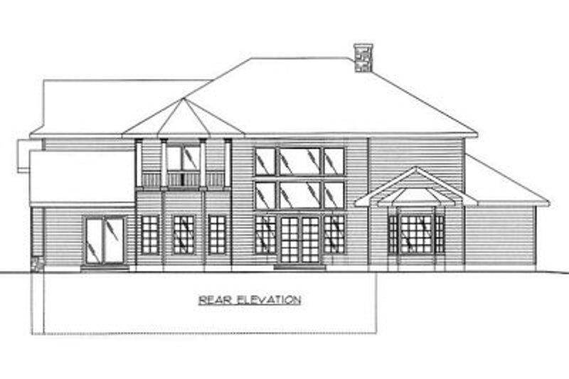 European Exterior - Rear Elevation Plan #117-537 - Houseplans.com