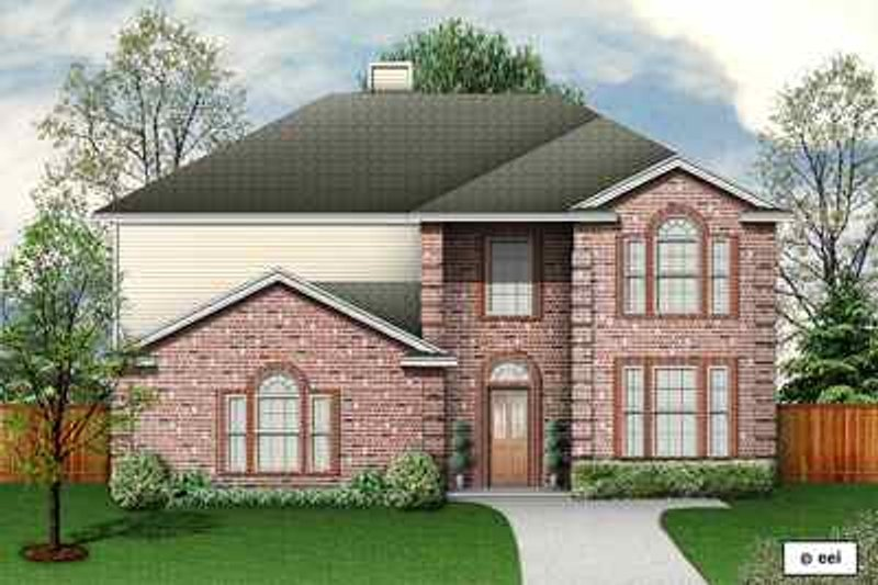 Traditional Exterior - Front Elevation Plan #84-144 - Houseplans.com