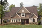 Craftsman Style House Plan - 4 Beds 4.5 Baths 4300 Sq/Ft Plan #413-859 Exterior - Front Elevation
