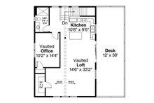 Craftsman Floor Plan - Upper Floor Plan Plan #124-1133