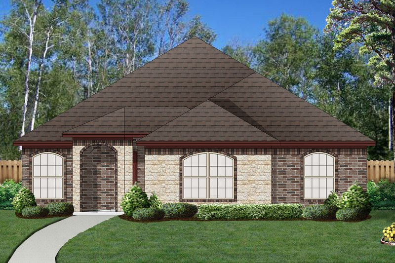 Traditional Exterior - Front Elevation Plan #84-587 - Houseplans.com