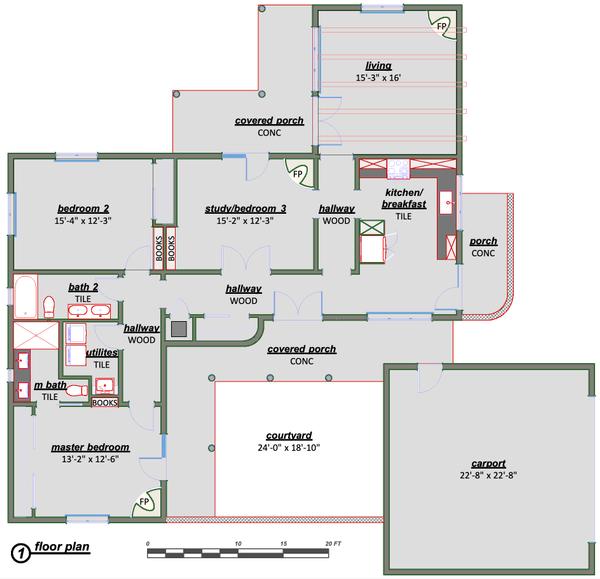 Dream House Plan - Adobe / Southwestern Floor Plan - Main Floor Plan #450-9