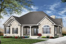 Dream House Plan - European Exterior - Front Elevation Plan #23-529