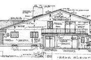 Mediterranean Style House Plan - 3 Beds 2.5 Baths 1974 Sq/Ft Plan #12-209 Exterior - Rear Elevation