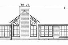 House Blueprint - Ranch Exterior - Rear Elevation Plan #72-303
