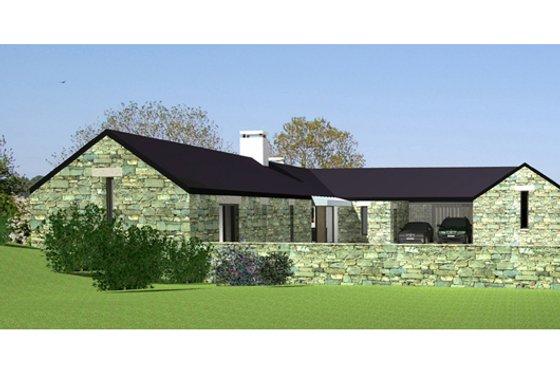 Modern Exterior - Front Elevation Plan #520-7