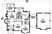 European Style House Plan - 3 Beds 2 Baths 3716 Sq/Ft Plan #25-4707 Floor Plan - Main Floor Plan