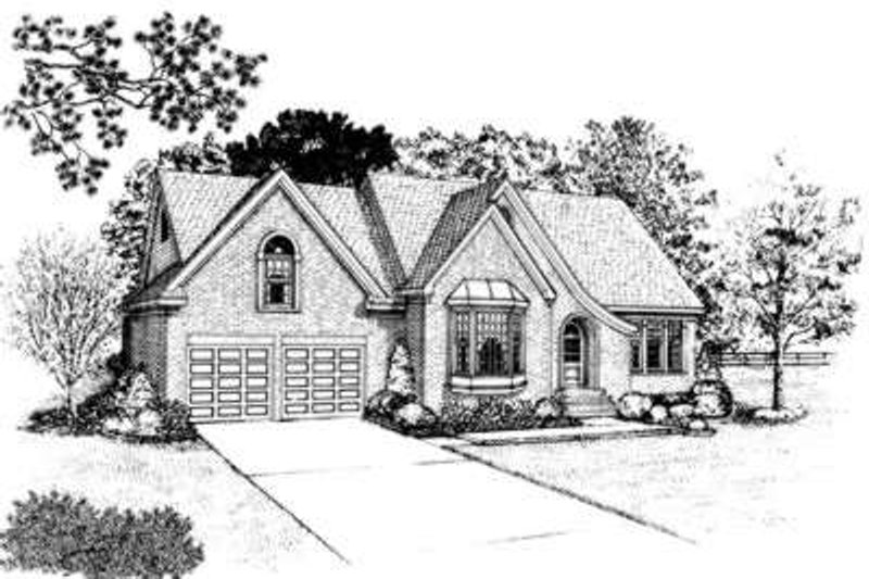 European Exterior - Front Elevation Plan #410-373