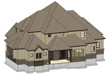 Country Exterior - Rear Elevation Plan #937-33