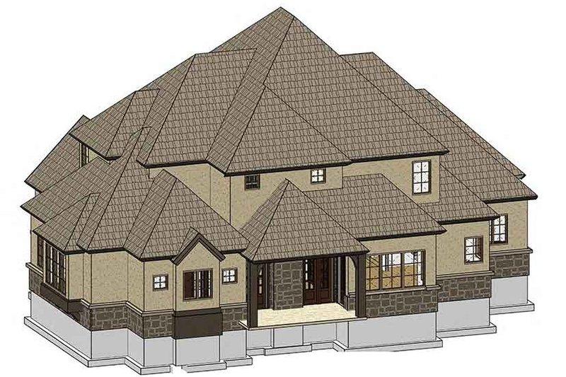Country Exterior - Rear Elevation Plan #937-33 - Houseplans.com