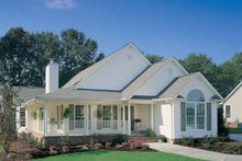 Country Exterior - Front Elevation Plan #929-190