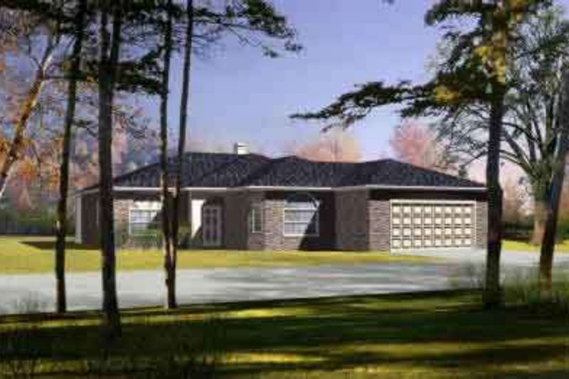 Traditional Style House Plan - 3 Beds 2 Baths 1520 Sq/Ft Plan #1-444 Exterior - Front Elevation