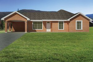Dream House Plan - Ranch Exterior - Front Elevation Plan #1061-30