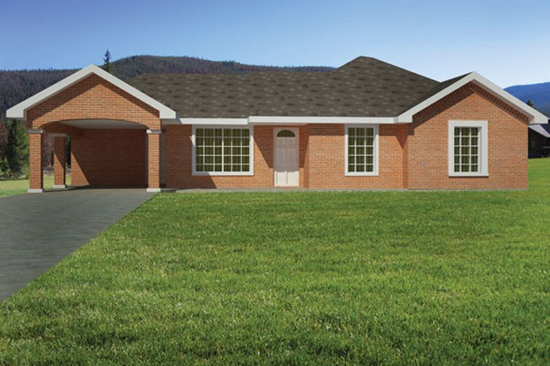 Ranch Exterior - Front Elevation Plan #1061-30
