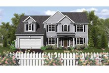 House Design - Colonial Exterior - Front Elevation Plan #1010-15