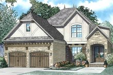 Tudor Exterior - Front Elevation Plan #17-3405