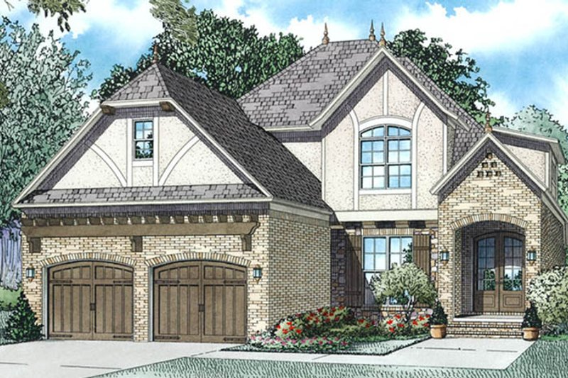 Tudor Exterior - Front Elevation Plan #17-3405