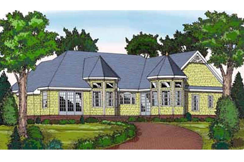 Country Exterior - Rear Elevation Plan #314-272 - Houseplans.com