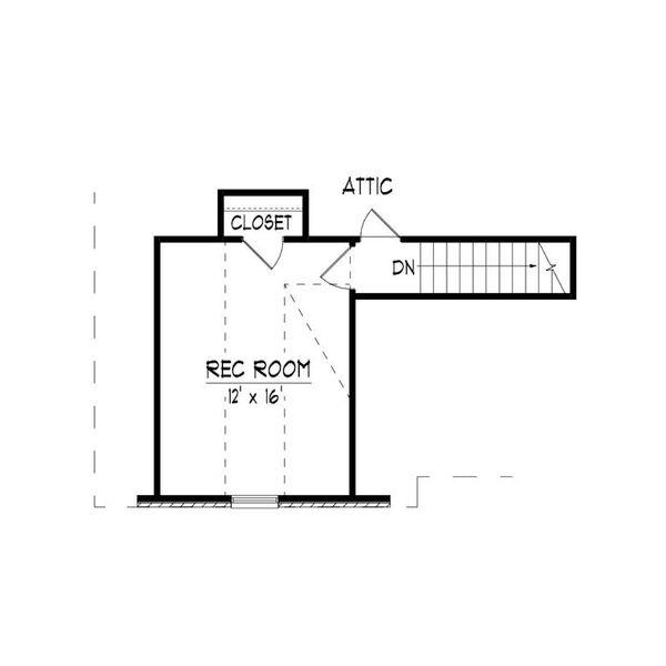 European Floor Plan - Upper Floor Plan #424-410