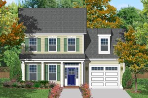 Classical Exterior - Front Elevation Plan #1053-47