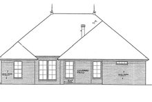 European Exterior - Rear Elevation Plan #310-1259