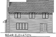 Traditional Style House Plan - 4 Beds 2.5 Baths 2106 Sq/Ft Plan #70-302 Exterior - Rear Elevation