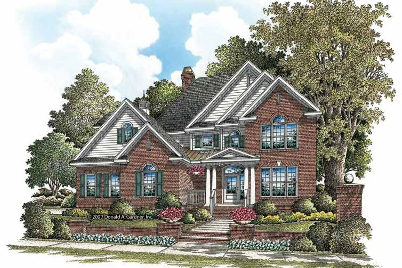 Traditional Exterior - Front Elevation Plan #929-840 - Houseplans.com