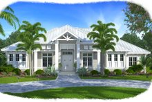 House Design - Southern Exterior - Front Elevation Plan #27-501