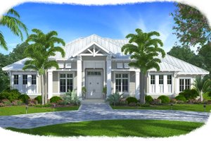 Southern Exterior - Front Elevation Plan #27-501