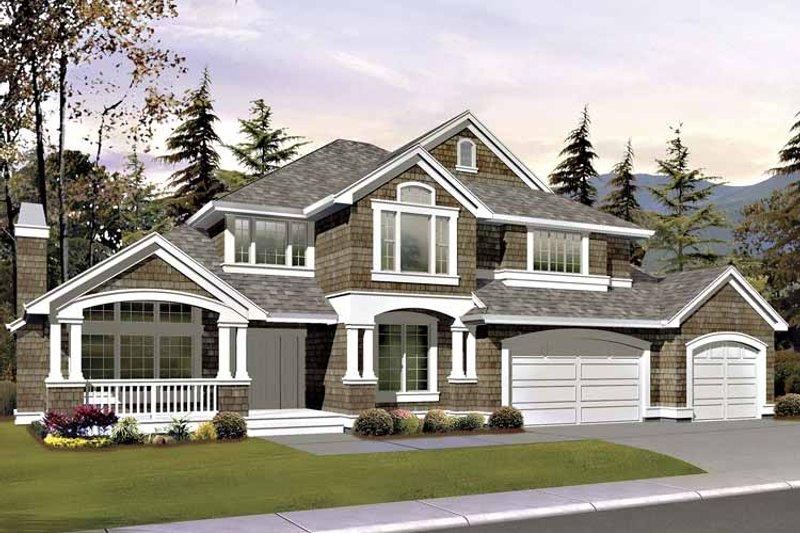 Craftsman Exterior - Front Elevation Plan #132-412 - Houseplans.com