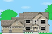 Home Plan - Prairie Exterior - Front Elevation Plan #981-14