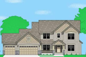 Prairie Exterior - Front Elevation Plan #981-14