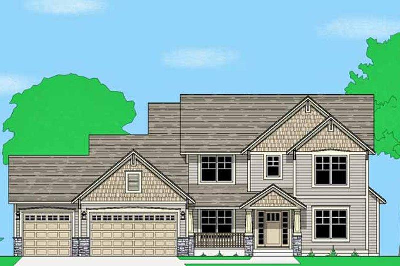 Prairie Exterior - Front Elevation Plan #981-14