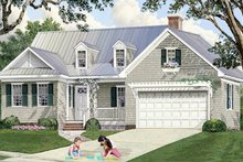 Architectural House Design - Country Exterior - Front Elevation Plan #137-372