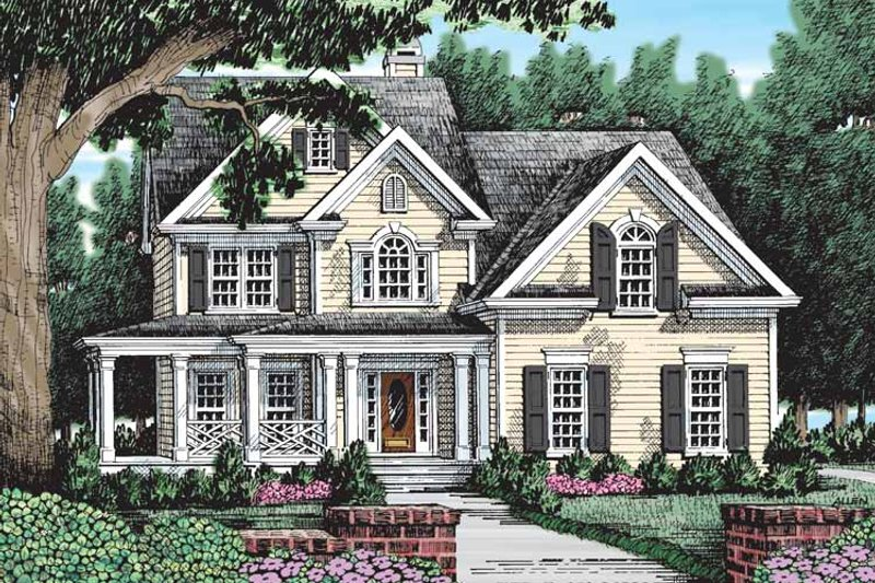 Country Exterior - Front Elevation Plan #927-109 - Houseplans.com