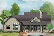 Farmhouse Style House Plan - 3 Beds 2 Baths 1645 Sq/Ft Plan #929-1044 Exterior - Rear Elevation