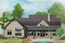 House Design - Farmhouse Exterior - Rear Elevation Plan #929-1044