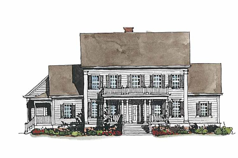 Classical Exterior - Front Elevation Plan #429-186 - Houseplans.com