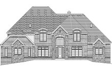 European Exterior - Front Elevation Plan #1057-3