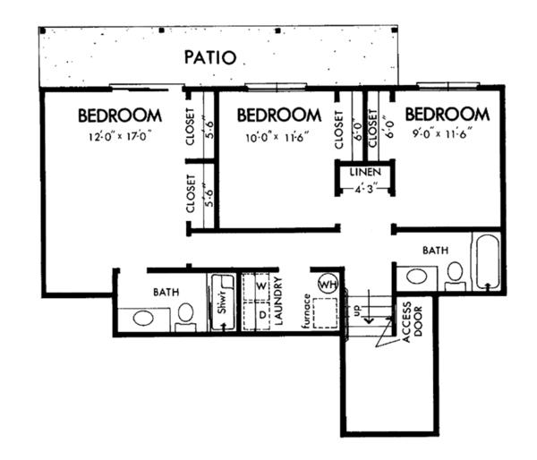 Prairie Floor Plan - Lower Floor Plan Plan #320-1190