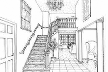 Architectural House Design - Traditional Interior - Entry Plan #314-275
