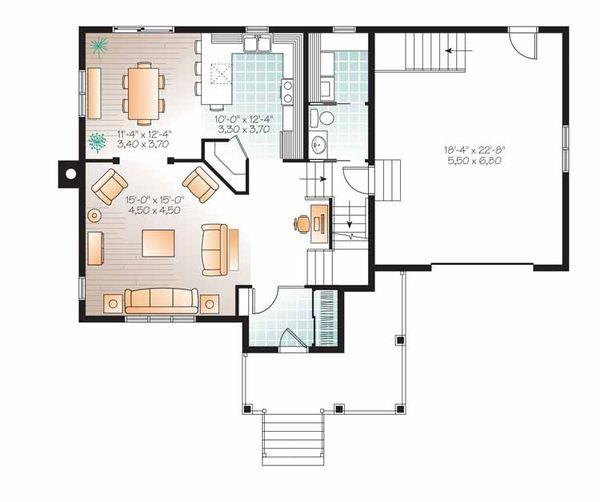 Country Floor Plan - Main Floor Plan Plan #23-2509