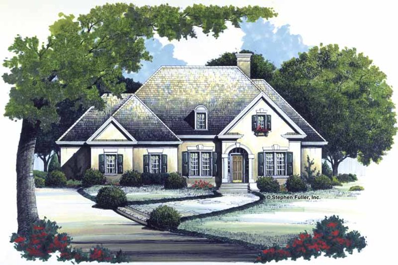 Traditional Exterior - Front Elevation Plan #429-122 - Houseplans.com