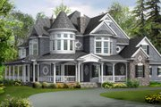 Victorian Style House Plan - 4 Beds 4.5 Baths 5250 Sq/Ft Plan #132-175 Exterior - Other Elevation