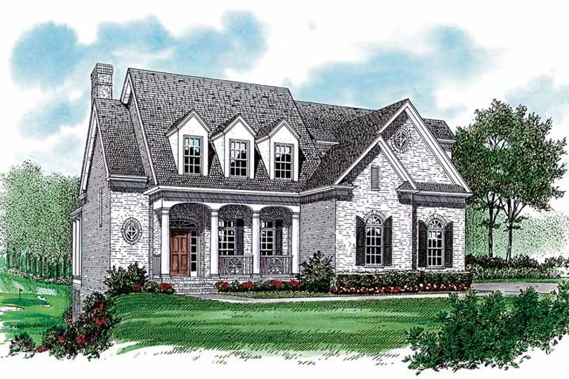 Dream House Plan - Country Exterior - Front Elevation Plan #453-297