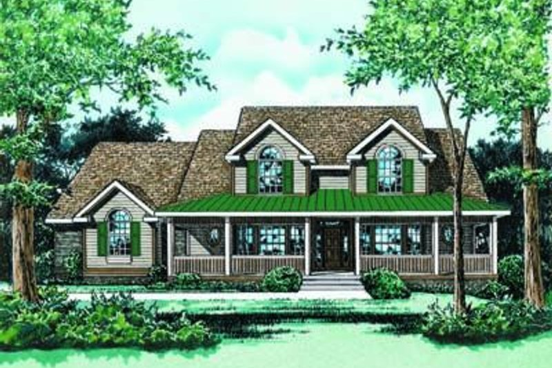 Traditional Exterior - Front Elevation Plan #20-1030 - Houseplans.com