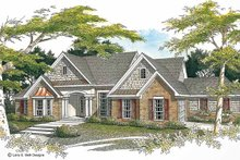 Architectural House Design - Ranch Exterior - Front Elevation Plan #952-71